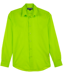 Others Solid - Unisex Cotton Voile Light Shirt Solid, Lemongrass front