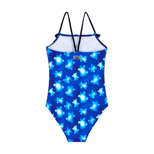 Girls Others Printed - Girls One Piece Swimsuit Woven Straps Crystal Turtles, Atoll back