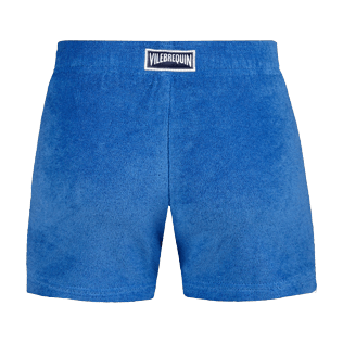 Girls Others Solid - Girls Terry Cloth Shortie Solid, Sea blue back