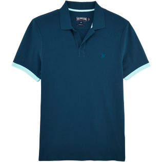 Men Polos Solid - Solid Cotton pique polo, Spray front
