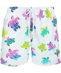 Hombre Clásico Estampado - Men Swimwear Ronde des Tortues Aquarelle, Blanco front