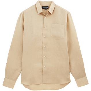 Men Others Solid - Men Linen Shirt Solid, Hemp front