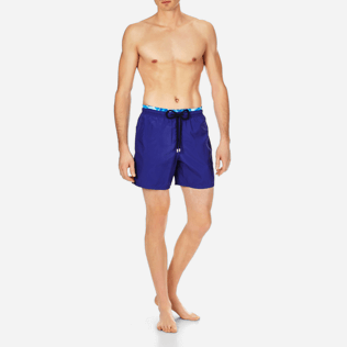 Men Ultra-light classique Solid - Men Lightweight and Packable Swimwear Solid and Splash, Neptune blue frontworn