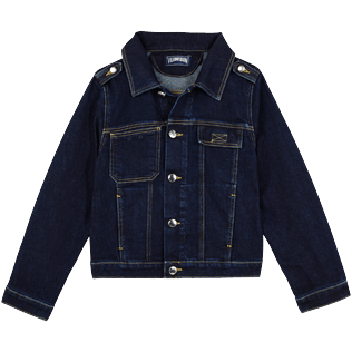 Boys Others Solid - Boys Trucker Jacket, Light denim w3 front