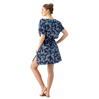 Women Dresses Printed - Butterflies Cover-up V Neck, Navy supp2