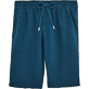Men Others Solid - Men Italian Pockets Linen Bermuda Shorts Solid, Spray front