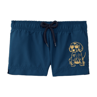 Girls Others Embroidered - Sunny Dog Shorty, Spray front