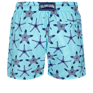 Men Ultra-light classique Printed - Men Swimwear Ultra-light and packable Starfish Dance, Lazulii blue back