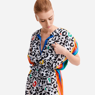 Women Others Printed - Women Cover-up Leopard and Rainbow - Vilebrequin x JCC+ - Limited Edition, White supp1