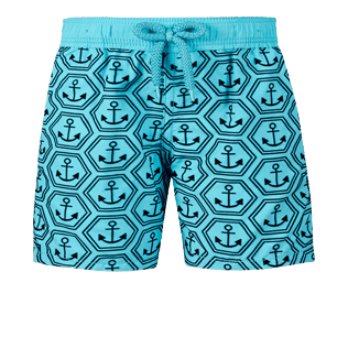 Boys Others Printed - Boys Swimwear Flocked Ancre De Chine, Tropezian blue front