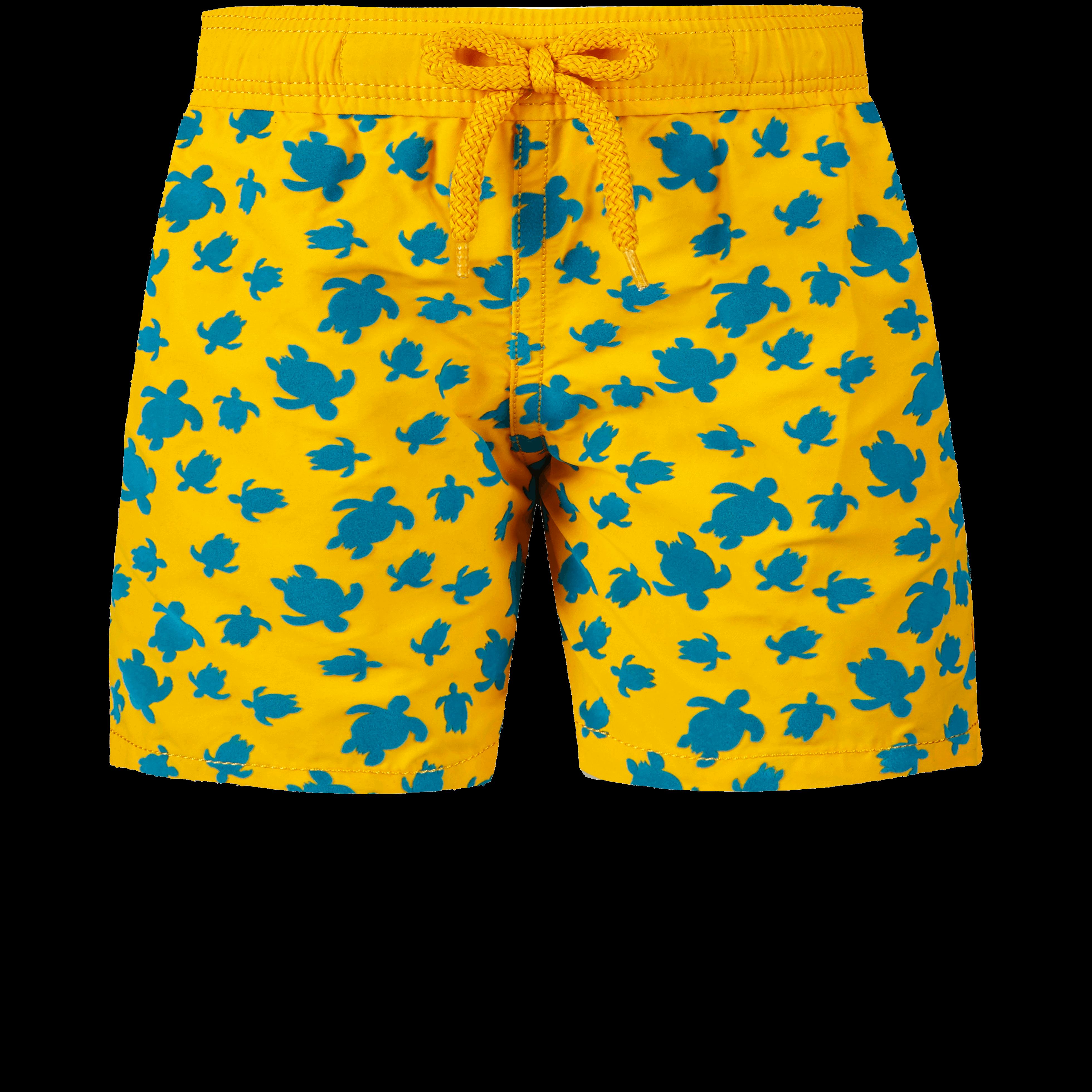 VILEBREQUIN | Boys Swimwear - Boys Swimwear Flocked Micro Ronde Des Tortues - SWIMMING TRUNK - JIM - Orange - 14 - Vilebrequin | Goxip