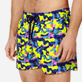 Men Stretch classic Printed - Men Swimwear Stretch Neo camo Turtles, Neon yellow supp1