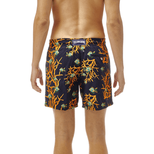 Men Classic / Moorea Embroidered - All Over Coral and Fish Embroidery Swimwear, Navy supp3
