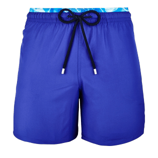 Men Classic / Moorea Solid - Men Lightweight and Packable Swimwear Solid and Splash, Neptune blue front