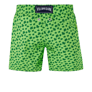 Boys Others Printed - Boys Swimwear Ultra-Light and Packable Micro Ronde des Tortues Fluo, Neon green back