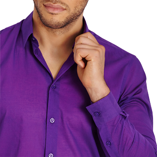 Others Solid - Solidsex Cotton Voile Light Shirt Solid, Plum supp1