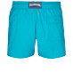 Men Stretch classic Solid - Men Swimwear Stretch Micro Ronde des Tortues, Light azure back