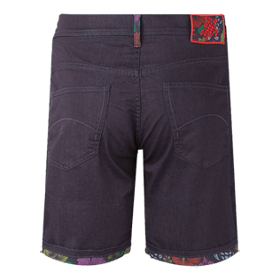 Herren Andere Bedruckt - Tropical Turtles Bermudashorts für Herren, Dark denim w1 back