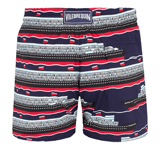 Men Stretch classic Printed - Men Swimtrunks Stretch VBQ Cruise Lines, Midnight blue back
