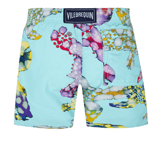 Boys Others Printed - Boys Swim Trunks Watercolor Turtles, Acqua back