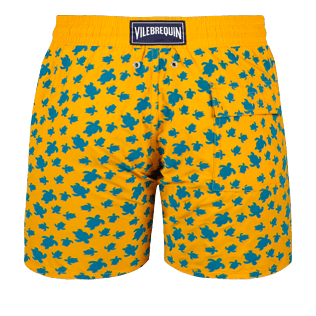 Men Classic Printed - Men Swimwear Flocked Micro Ronde Des Tortues, Mango back