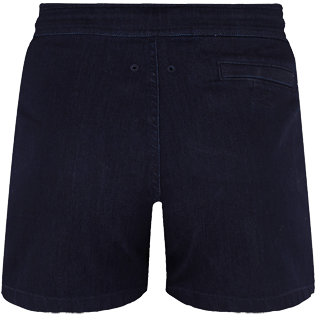 Men Others Solid - Men Blue 70s Shorts, Dark denim w1 back