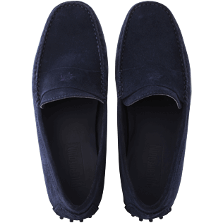 Men Others Solid - Men Very soft Daim Loafers Solid, Navy front