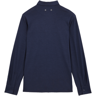 Men Others Solid - Jersey Tencel Men Shirt Solid, Navy back