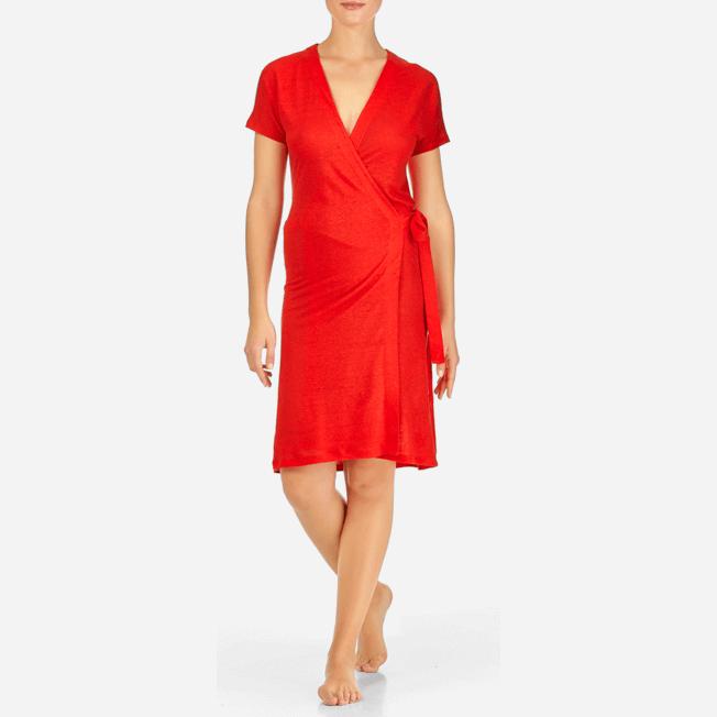 Vilebrequin - Robe Portefeuille Lin Unie - 3