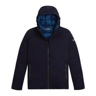 Others Printed - Men 3-in-1 Jacket Micro Turtles, Navy front