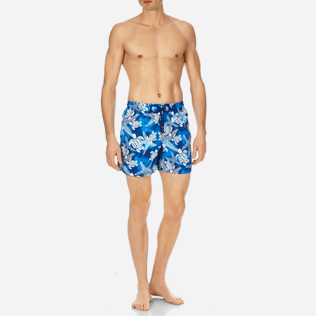 Men Classic Printed - Men Swimtrunks Starlettes & Turtles Vintage, Neptune blue frontworn