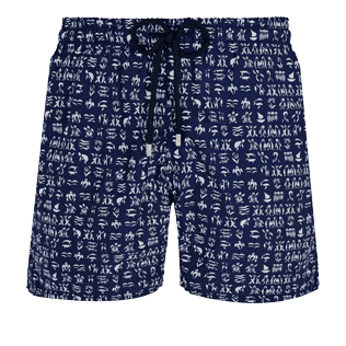 Men Classic Printed - Men Swimwear Fortune Teller Turtles, Midnight blue front