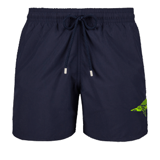 Men Embroidered Embroidered - Men Placed Embroidery Swimwear Belle ou Gars, Navy front