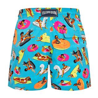 Men Stretch classic Printed - Men Swimwear - Vilebrequin x Derrick Adams, Swimming pool back