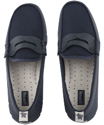 Men Others Printed - Men Waterproof Solid Loafers, Navy / white front