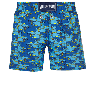 Boys Others Printed - Boys Swimwear Cows Puzzle, Batik blue back