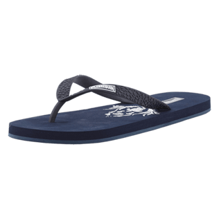 Men Others Printed - Men Flip Flops Pranayama, Navy back