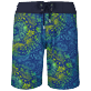 Hombre Cintura plana Estampado - Men Long Flat Belt Swimwear Evening Birds, Batik azul front