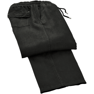 Men Pants Solid - Solid Linen pants, Black front