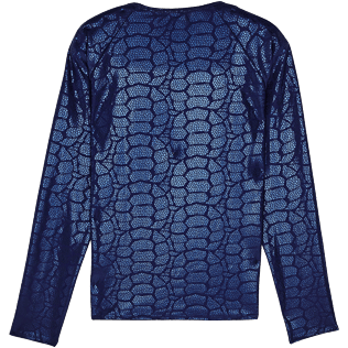 Women Others Printed - Women Rashguard Shell Turtles, Navy back
