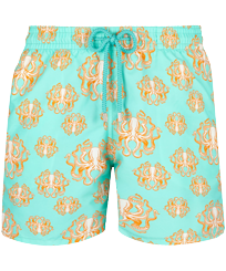 Men Classic Printed - Men Swim Trunks Poulpes, Lagoon front