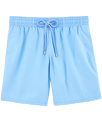 Men Classic Solid - Men Swim Trunks Solid, Sky blue front