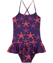 Girls Others Printed - Girls One-piece Swimsuit Starfish Dance, Sapphire front