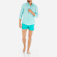 Others Solid - Unisex Linen Voile Shirt Solid, Lagoon supp7
