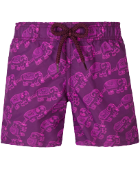 Boys Others Printed - Boys Swim Trunks Elephant Dance, Kerala front