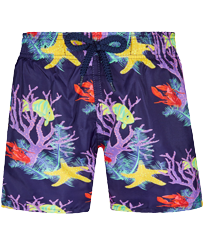 Boys Others Printed - Boys Ultra-light and packable Swim Trunks Fonds Marins, Sapphire front