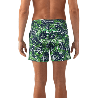 Men Fitted Printed - Madrague Fitted cut Swim shorts, White supp3