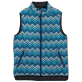 Others Printed - Unisex Sleeveless Down Jacket Herringbones Turtles, Navy supp7
