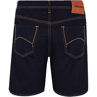 Men Others Solid - Men 5-Pocket Denim Bermuda Shorts, Dark denim w1 back