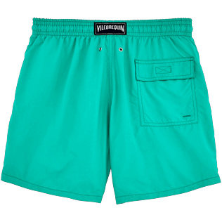 Men Classic Printed - Water-reactive Sardines à l'Huile Swim shorts, Veronese green back
